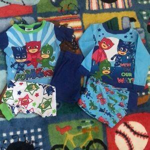 Boys 4T PJ Masks Pajamas bundle